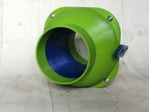 100mm Ball Valve Type Non-Clog Blast Gate for Workshop Dust Extraction Network