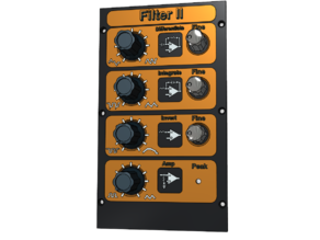 Synthesizer filter module panel