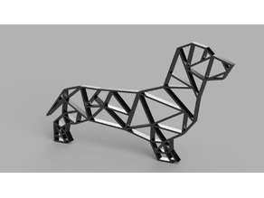 Origami Sausage Dog