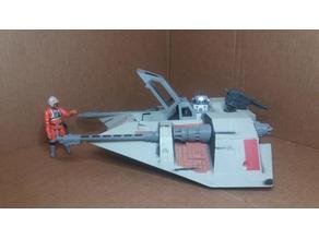 Snowspeeder Kenner hasbro star wars toy repro parts