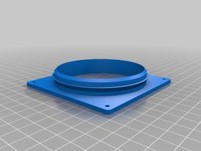 80mm fan to tube (80mm) adapter