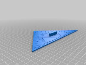Geodreieck taktil / Triangle, tactile / Set Square 90-45-45