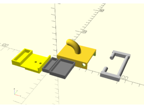 Towel rack_peg with optional rail and secret box -OpenScad