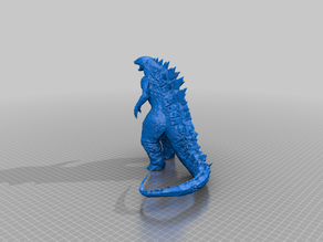 low poly Godzilla