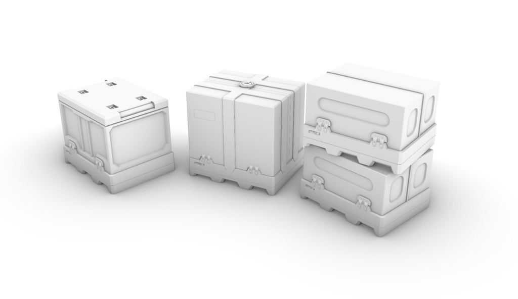 Crates *compatible with D.O.N.K. forklift module