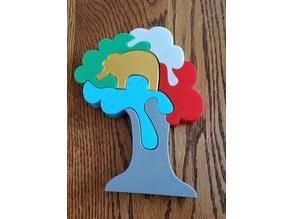 Elephant in Tree Puzzle