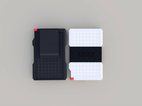 Slim Credit Card Wallet with Money Clip / Strap
