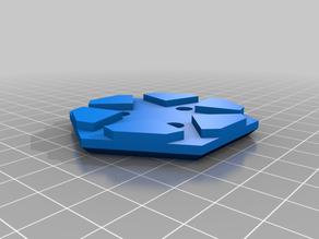 Hexagonal Magnetic D6 Dice Holder
