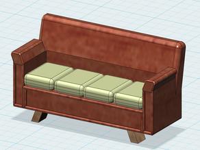 123D design a sofa model