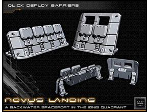 Quick Deploy Barriers - 28-32mm gaming - Novus Landing