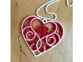 3D printed Quilling Heart