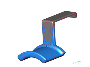 Cubicle Heaphone Holder for Haworth Compose cubicles (with STEP file) - REMIX no cord holder