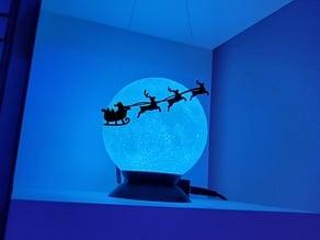 Simple Santa Claus Sleigh Silhouette