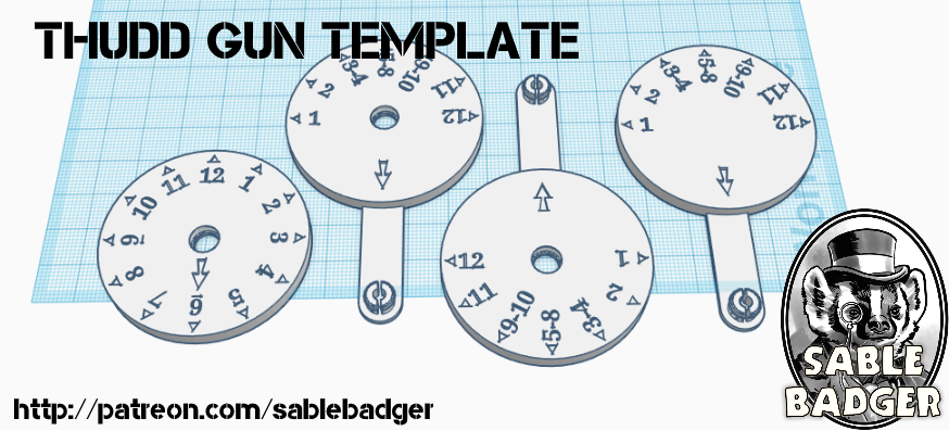 Thudd Gun Template - 40k 2nd Edition