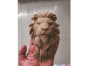 Lion Head Lowpoly