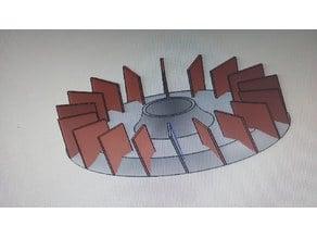 Turbina para cortadora de cesped tipo tractor