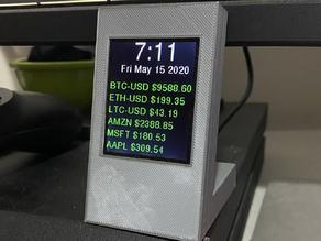 "2.2"" TFT Desktop Stand Crypto / Stocks Ticker"