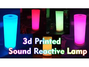 3d printed sound reactive lamp