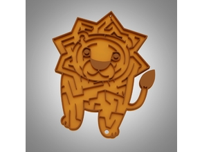 African lion marble maze puzzle