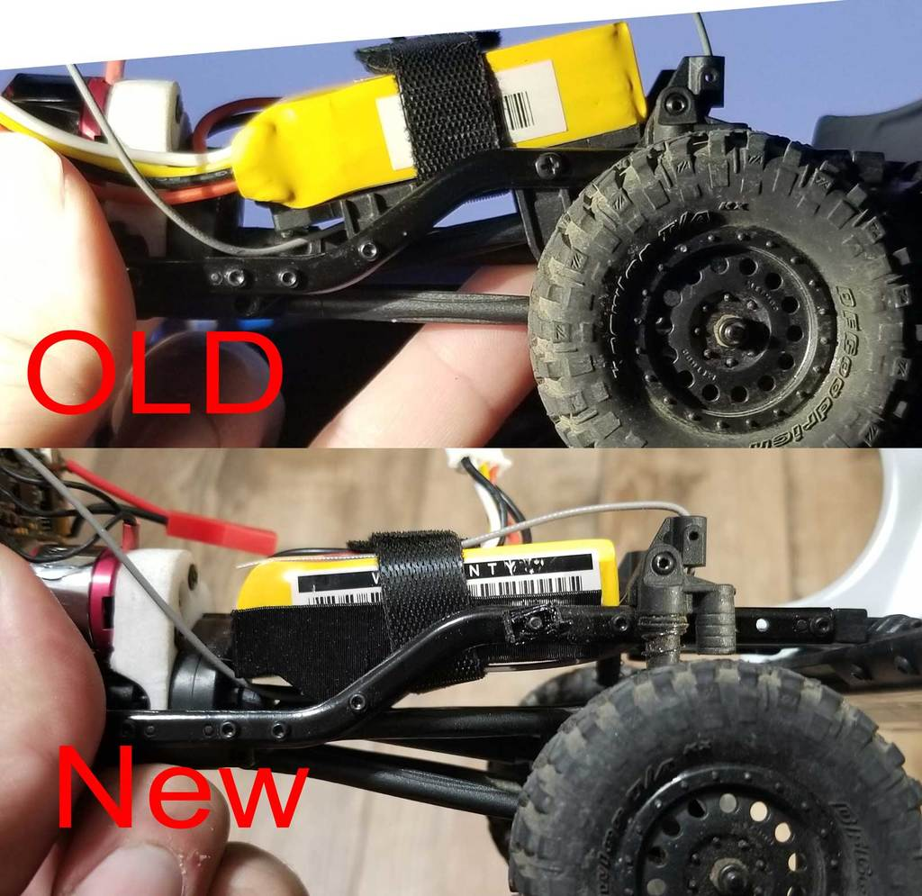 SCX24 low cg battery tray