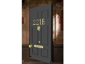 221B Baker Street Door Sherlock Holmes