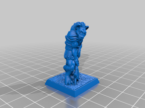 Gnoll 28mm (supportless, FDM friendly)