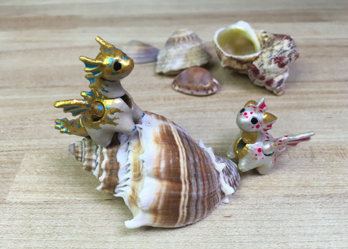 Aquatic Pieces for Miniature Jointed Dragon