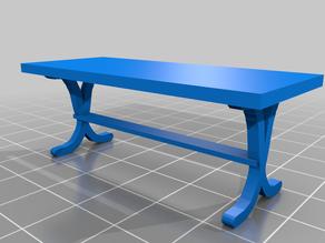 Quarter Scale Simple Trestle Table (28mm)