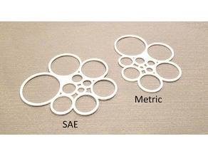 Circle Drawing Templates - SAE & Metric