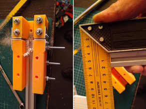 Make 90 degree cuts with clamping Miter Box, adjustable saw width