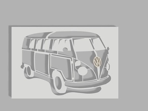 VW bus airbrush stencil 2