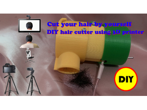 Cut your hair by yourself, DIY hair cutter using 3D printer, improved