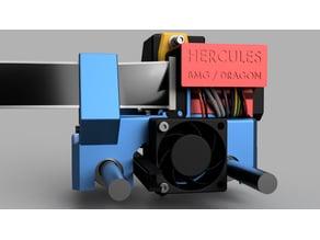 Hercules - QIDI X-Plus X-Max Carriage for BMG & Dragon / E3D V6