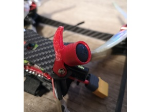 Cherrycraft Staccato V1/V2 Fin w/ TBS Triumph PRO Antenna Mount