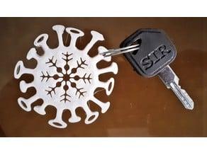 Corona Keychain
