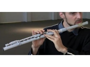 3d printed transversal Flute from MIT Lab