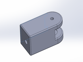 Left tensioner idler holder remix for BLV cube