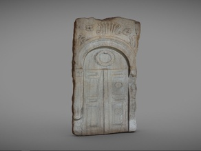 Funerary stele decorated with a crown