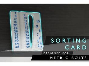 Sorting Card | Metric Bolt