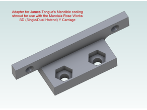 James Tongue Fan Shroud Adapter for MRW SD Carriage for the Railcore Printer