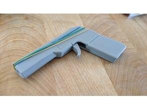 Stepper rubber bands minigun remix (no glue/screw required)