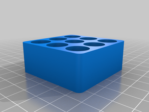"""Remix of """"Customizable Vial Holder"""" with round corners"""