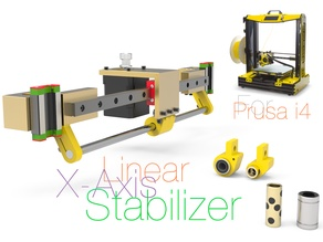Linear X-Axis Stabilizer for Prusa i4