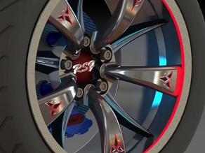 Wheel Rim - Klingon Kool By RSF