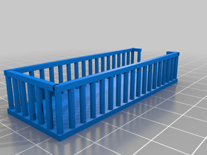 HO scale Roof deck for 20 ft. shipping container with railing