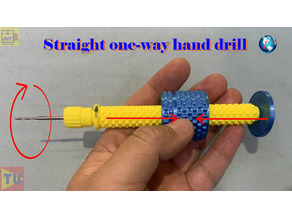 straight one-way manual hand drill