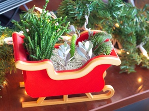 Christmas Sleigh Decor/Planter