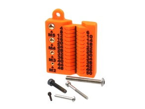 Quickly Measure & Sort M2, M3, M4, & M5 Metric Screws up to 50mm Long
