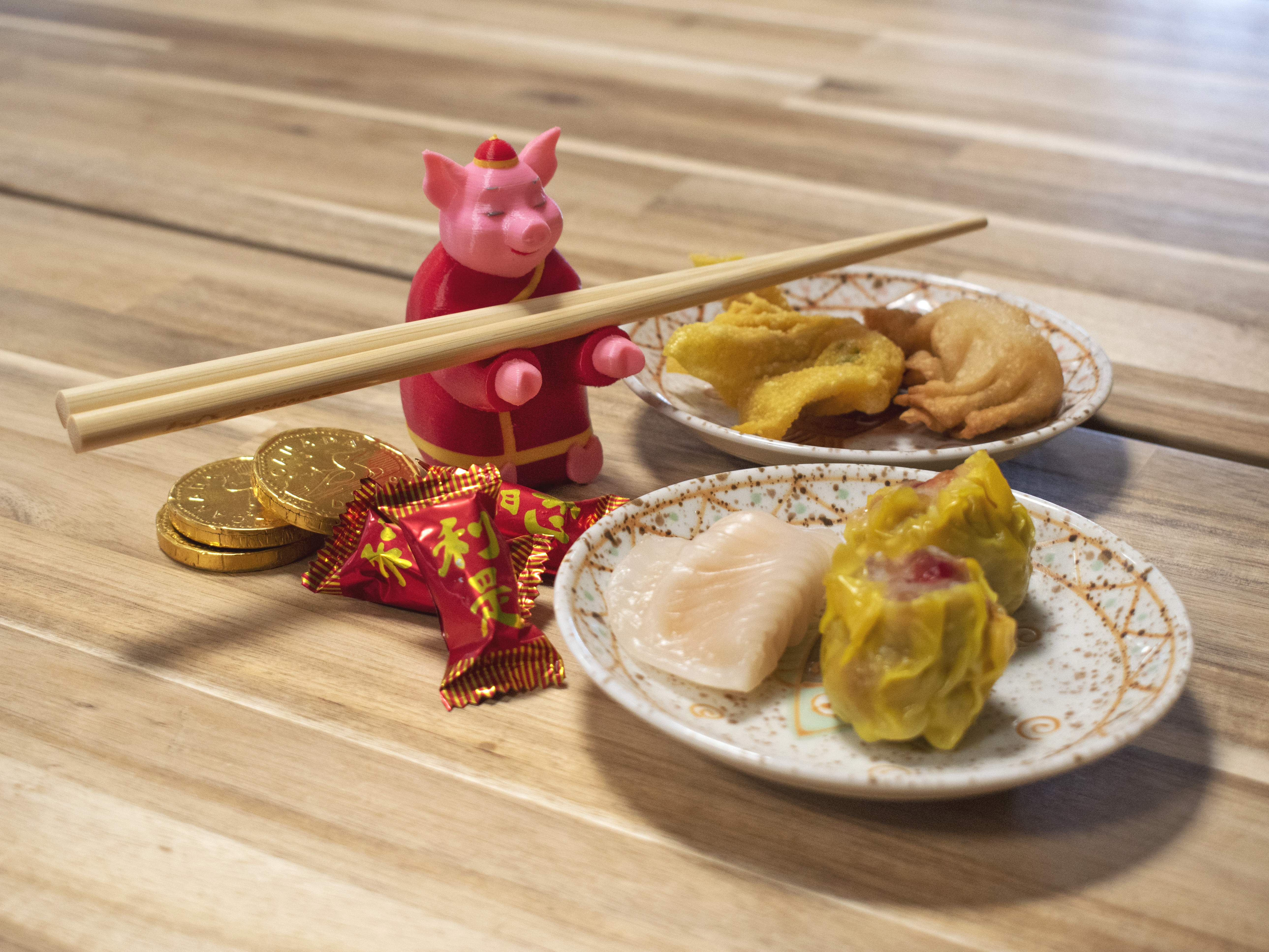 Multi-Color Year of the Pig Chopstick Holder