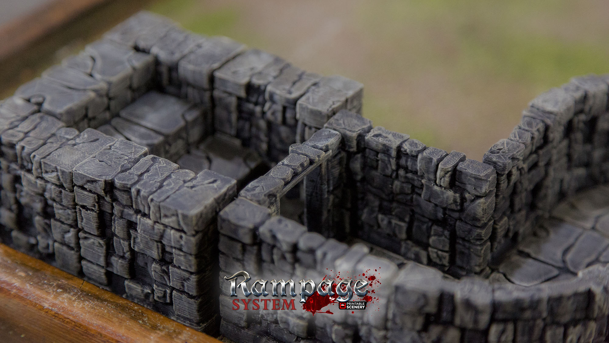 graphic regarding 3d Printable Dungeon Tiles called Rampage Dungeon Tiles - Very simple Mounted as a result of Printablescenery